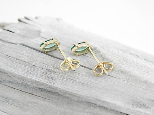 999406249 585/14k zlaté náušnice s prírodným smaragdom / soamijewelry - SAShE ...
