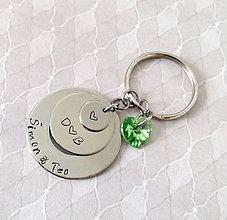 Kľúčenky - kľúčenka trio 1 + SWAROVSKI - 8336609_