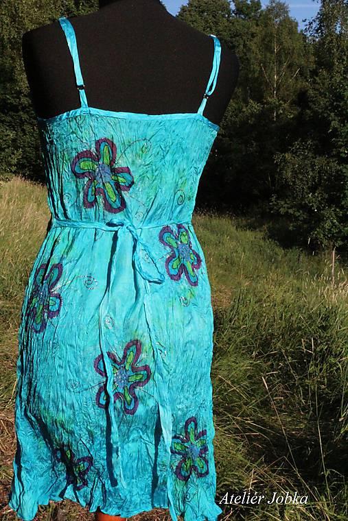 Hedvábné letní šaty Květy   jobka - SAShE.sk - Handmade Šaty cfd01edb4f