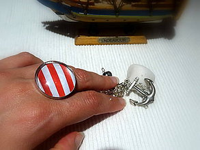 Prstene - Hey, Sailor !! porhodiovaný nastaviteľný prsteň - 8335666_