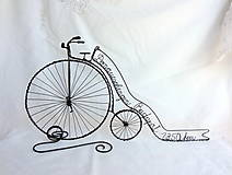 - velociped - retro bicykel so stuhou... - 8336007_