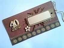 Papiernictvo - prírodná pohľadnica k jubileu 40 rokov - 8337487_