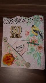 Papiernictvo - gratulačná pohľadnica k jubileu 50 rokov - 8337559_