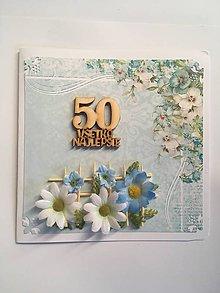 Papiernictvo - gratulačná pohľadnica k jubileu 50 rokov - 8337800_