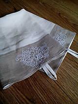 Úžitkový textil - Set dvoch ľanových utierok s výšivkou - 8338196_