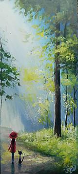 Grafika - Ráno v lese/Grafický list - 8338318_