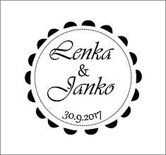 Darčeky pre svadobčanov - Svadobná pečiatka - 8336295_
