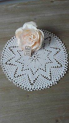 Úžitkový textil - Háčkovaná dečka biela hviezda - 8337837_