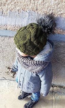 Detské čiapky - Tmavo zelená... - 8335662_
