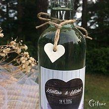 Darčeky pre svadobčanov - Mini ozdoby na fľaše - 8335749_
