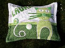 Textil - Vankúš - mačka - 8338888_