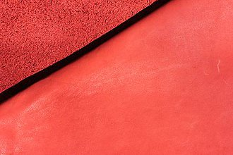 Suroviny - Exkluzívna koža - červená 20x30 cm alebo na želanie - 8337233_