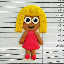 Magnetky - Vzorné decko - blond dievčina - 8336962_