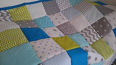 Textil - Jarný svieži Alex - patchwork deka - 8339370_