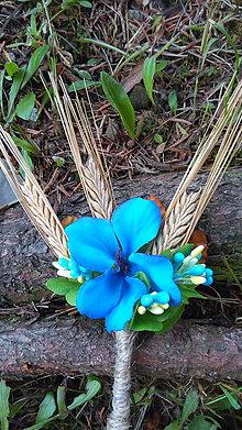 Pierka - modré nebo - svadobné pierko - 8340386_