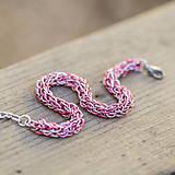 Spletenec - náramok (růžový)