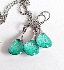 Sady šperkov - Světle tyrkysová sada z chirurgické oceli - 8340215_