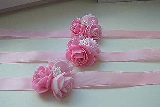 Iné doplnky - náramky pre družičky ružové - 8339073_