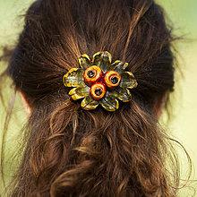Ozdoby do vlasov - Jabĺčková II. - spona do vlasov - 8339196_