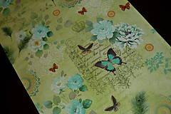 - Štóla Vintage na zelenej 140x50 pre Vierku - 8339933_