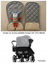 Vložka do kočíka Bugaboo Donkey DUO 100% wool elegant