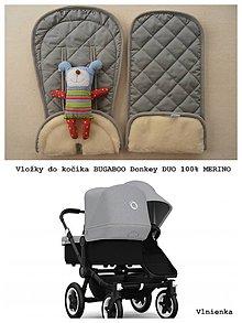 Textil - Vložka do kočíka Bugaboo Donkey DUO 100% wool elegant - 8339003_