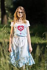 Topy, tričká, tielka - Dámske tričko batikované, maľované, folk JAYA - 8339705_