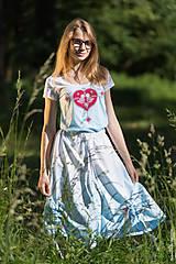 Sukne - Sukňa šitá, so šnúrkami, batikovaná, maľovaná, folk DAYA - 8339776_