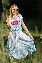 Sukne - Sukňa šitá, so šnúrkami, batikovaná, maľovaná, folk DAYA - 8339779_