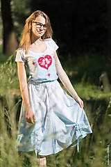 Sukne - Sukňa šitá, so šnúrkami, batikovaná, maľovaná, folk DAYA - 8339783_