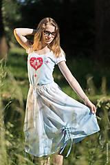 Sukne - Sukňa šitá, so šnúrkami, batikovaná, maľovaná, folk DAYA - 8339784_