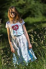 Sukne - Sukňa šitá, so šnúrkami, batikovaná, maľovaná, folk DAYA - 8339785_