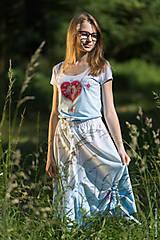 Sukne - Sukňa šitá, so šnúrkami, batikovaná, maľovaná, folk DAYA - 8339790_