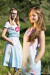 Sukne - Sukňa šitá, so šnúrkami, batikovaná, maľovaná, folk DAYA - 8339791_