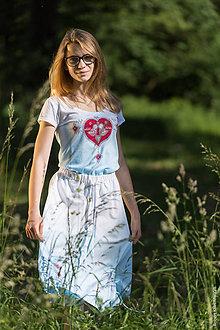 Sukne - Sukňa šitá, so šnúrkami, batikovaná, maľovaná, folk DAYA - 8339782_