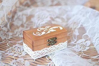 Krabičky - Krabička na obrúčky - 8340057_