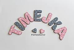 Detské doplnky - TIMEJKA meno pre dievčatko 6 cm - 8339203_