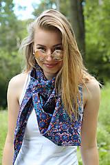 Šatky - Veľká letná kvetinová šatka na hlavu a do krku - 8339536_
