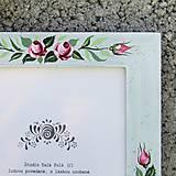 Rámiky - Maľovaný rámček - Nežnosť - 8340105_