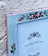 Rámiky - Maľovaný rámček - Nežnosť - 8340106_