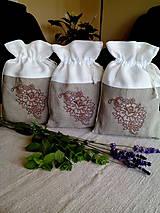 Úžitkový textil - Ľanové vrecúška na uskladnenie šušených byliniek, ovocia, húb..... - 8340322_