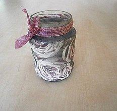 Svietidlá a sviečky - svietnik - ruža - 8338960_