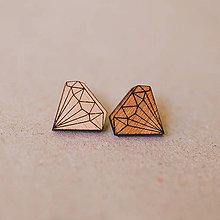 Náušnice - diamanty - napichovačky - 8341244_