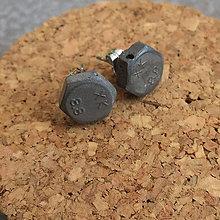 Náušnice - Betónky Hex nuts middle XK 02 - 8340269_