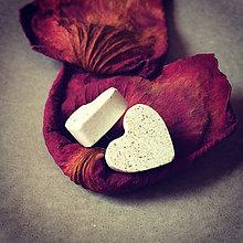 Náušnice - Betónky Hearts white 02 (srdce) - 8340374_