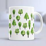 Nádoby - Prírodná šálka so stromami - 8341214_