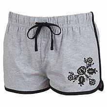 Nohavice - Dámske Retro šortky s výšivkou Vajnory - 8339200_