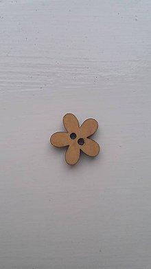 Galantéria - G115 Gombík drevený (kvietok 1,5 cm) - 8339964_