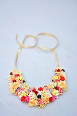 - Kvetinkový náhrdelník žltý - 8342066_