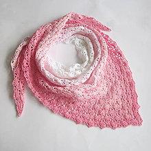 Šatky - Šatka v ružových odtieňoch - 8339869_
